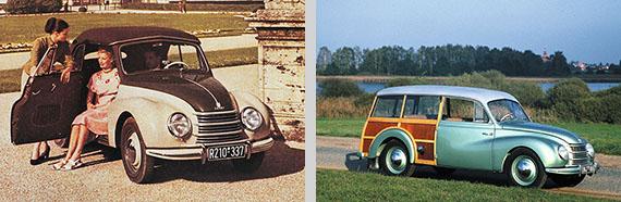 DKW F89, nas versões Cabriolet e Universal. Fotos: Audi AG.