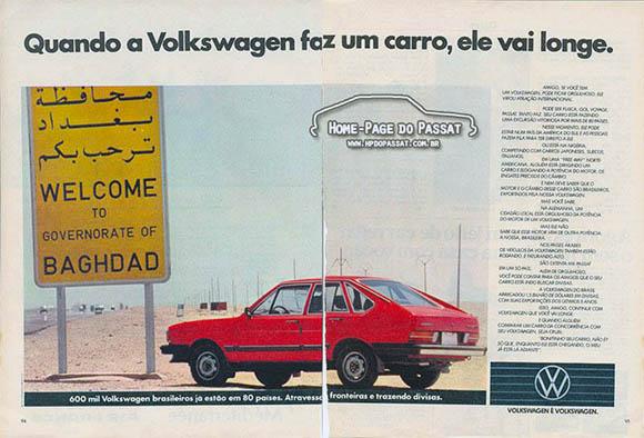 Propaganda da VW do Brasil - 1984
