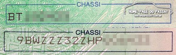 Como identificar o meu Passat? - Chassi