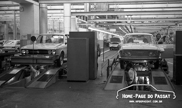 Na fábrica de Salzgitter, o K70 dividia a linha de montagem com o VW 412, modelo que ele deveria substituir.
