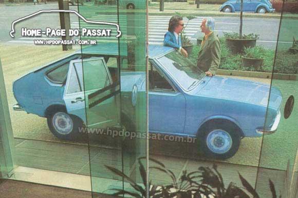 Imagem do catálogo da linha VW 1976 - Passat 4 portas