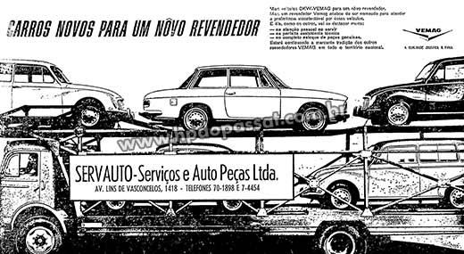 Concessionária Servauto - Anúncio de Janeiro de 1966