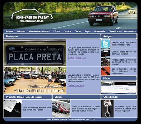 Home-Page do Passat: layout usado pelo site entre 2008 e agosto de 2015