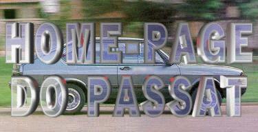 Home-Page do Passat: logotipo usado na abertura do site aproximadamente entre 1998 e 2002