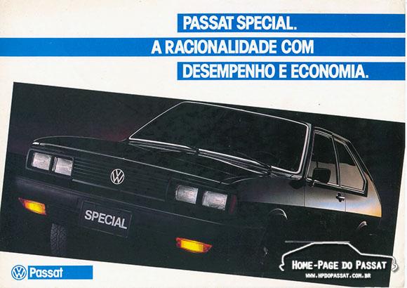 Folder publicitário do Passat Special 1985